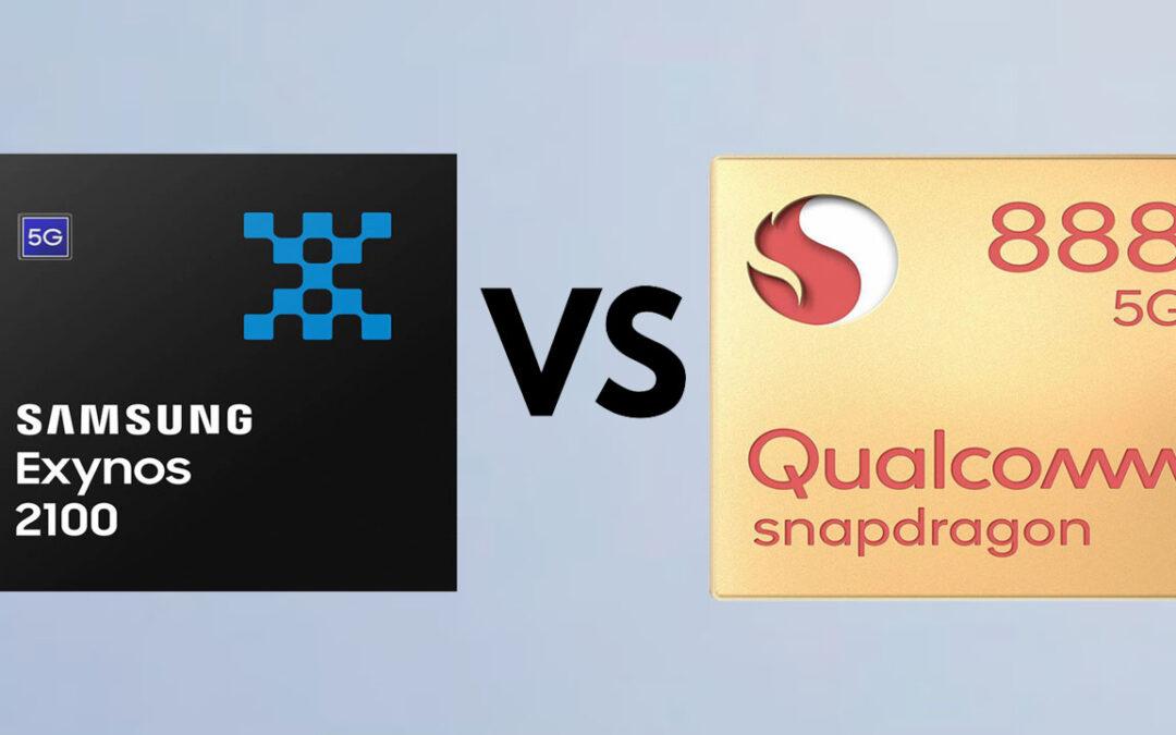 Samsung Exynos 2100 vs Qualcomm SM8350 Snapdragon 888